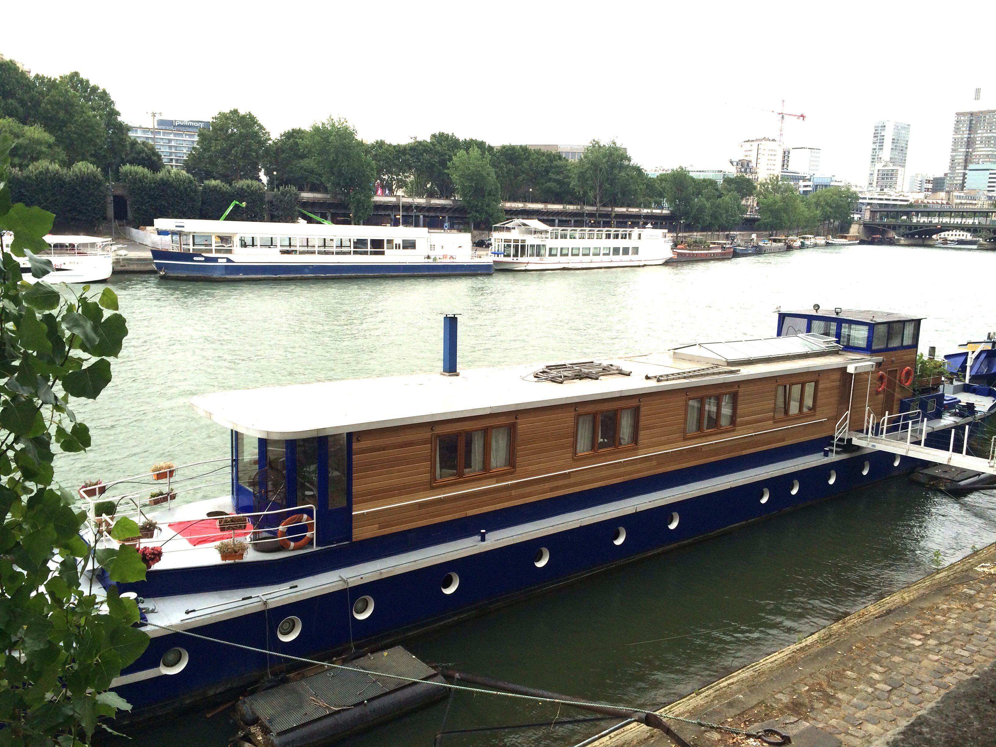 River boat in Paris