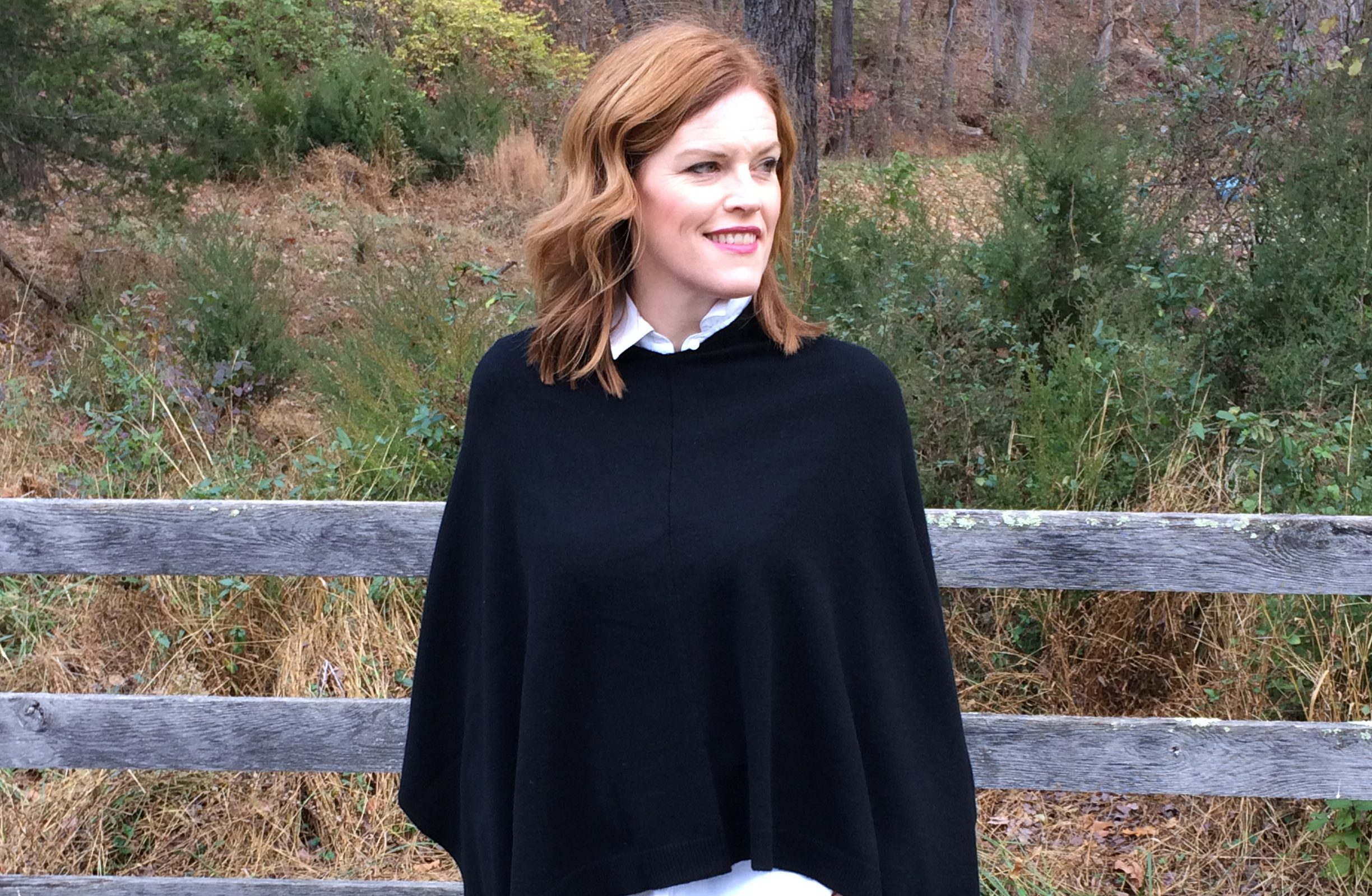 Cashmere Poncho Sweater