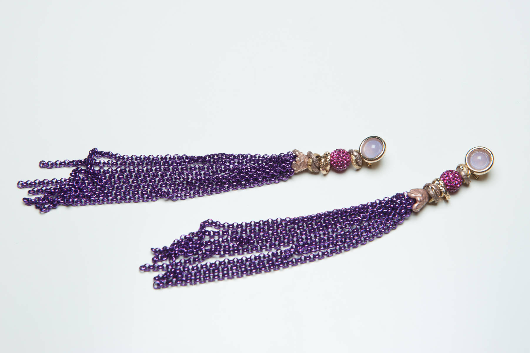Giuseppina Fermi Purple Cascade Earrings