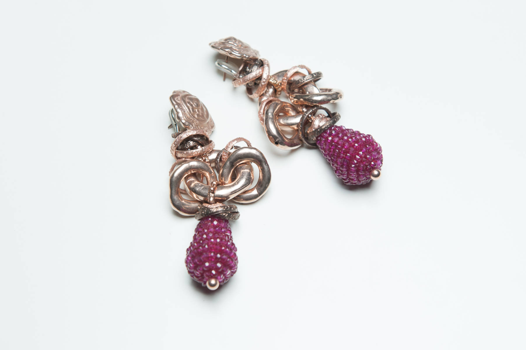 Giuseppina Fermi Rasberry Earrings