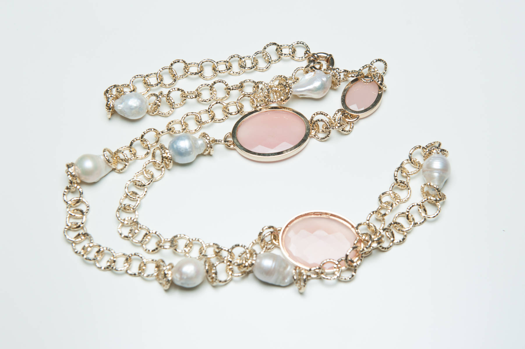 Giuseppina Fermi Rose Quartz Necklace