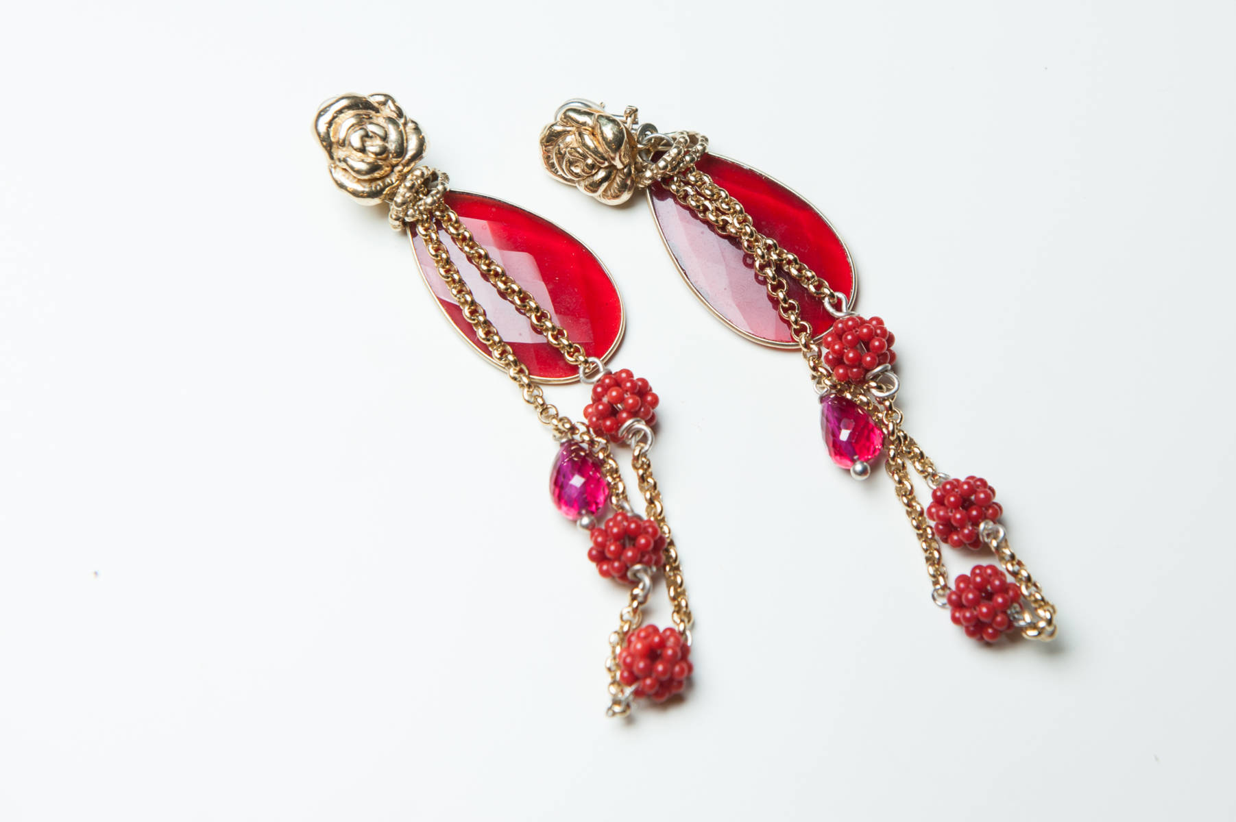 Giuseppina Fermi Roses and Blackberries Earrings