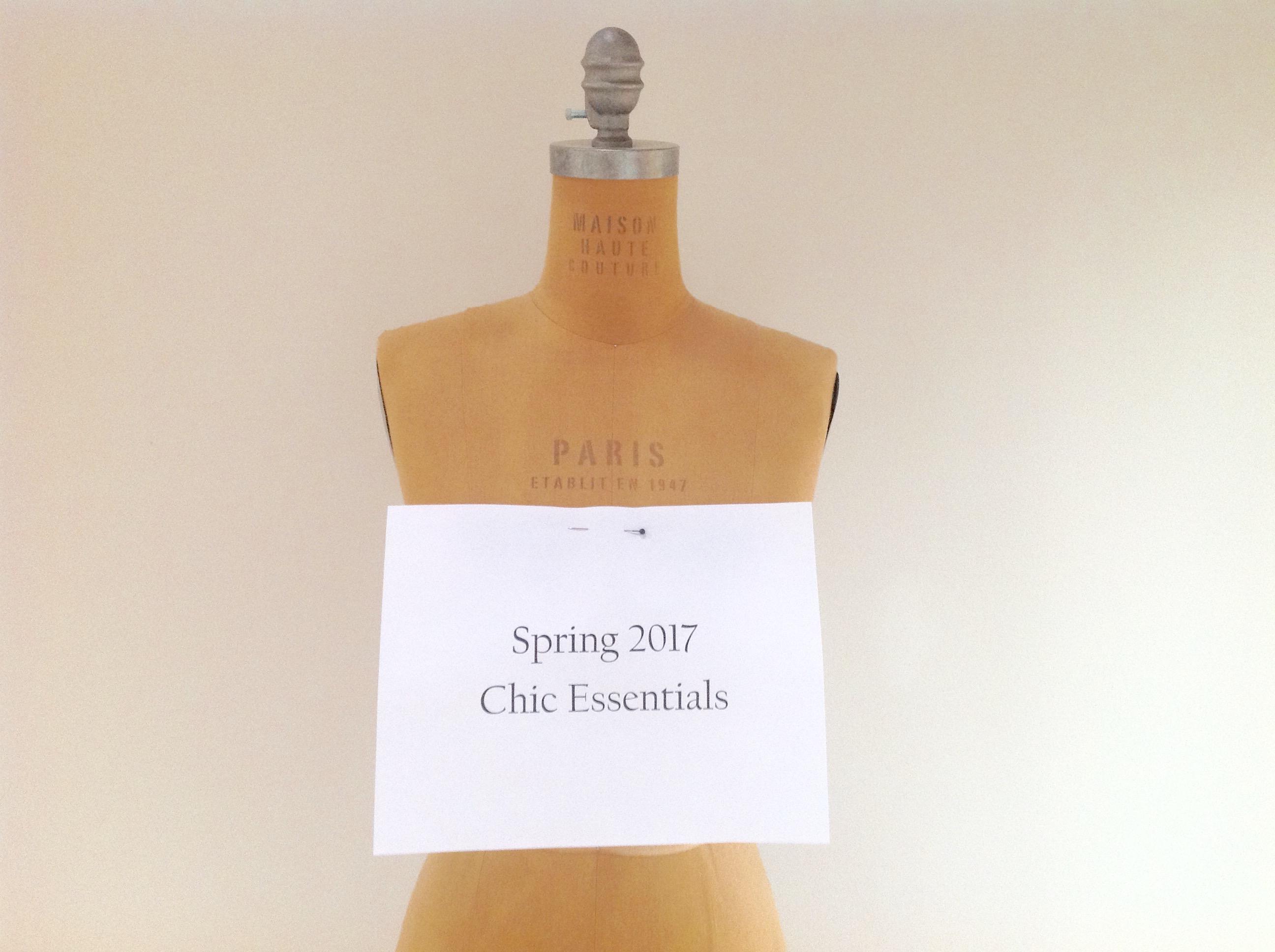 Spring 2017 Chic Essentials