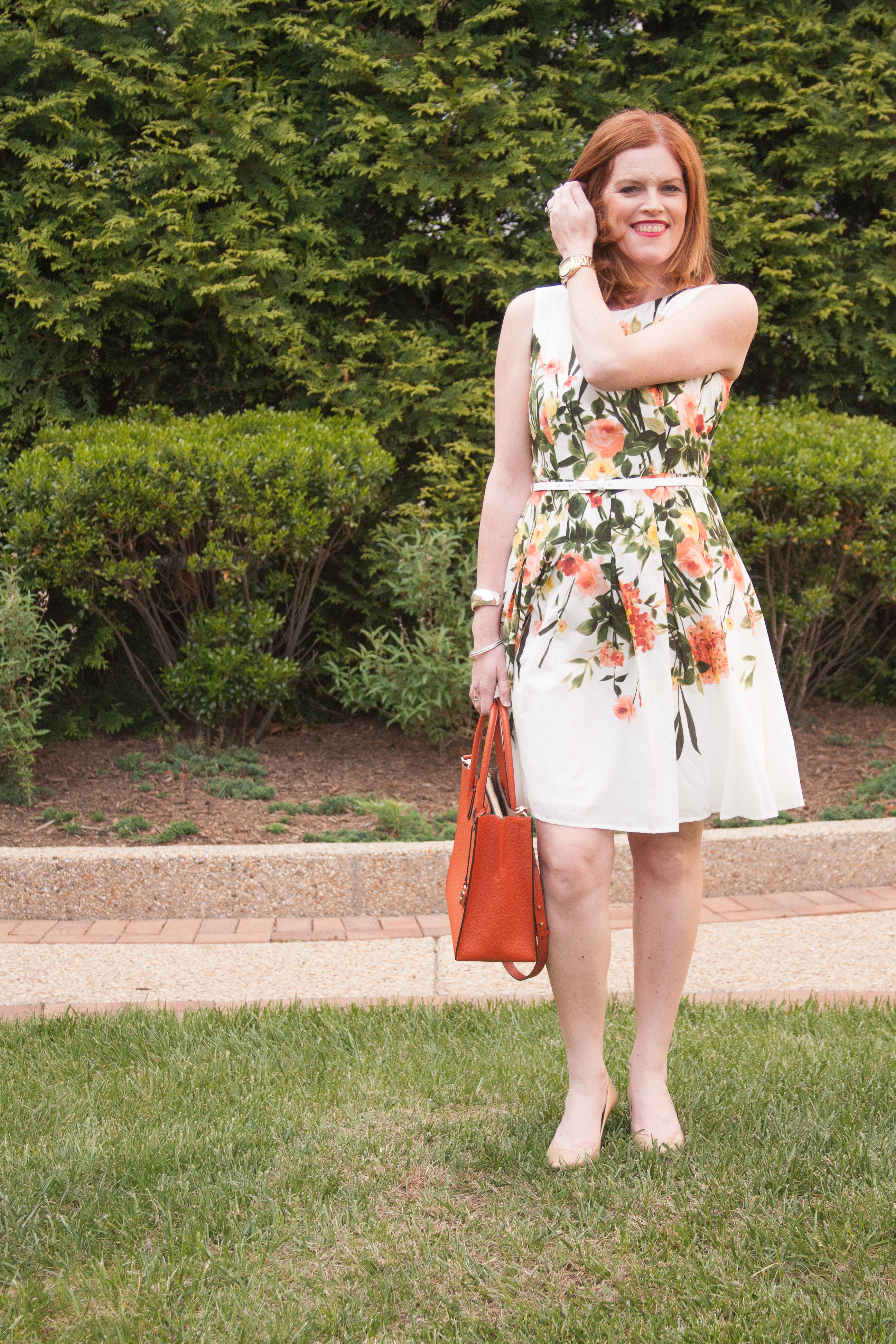 Parisian Chic Floral Print Sundress