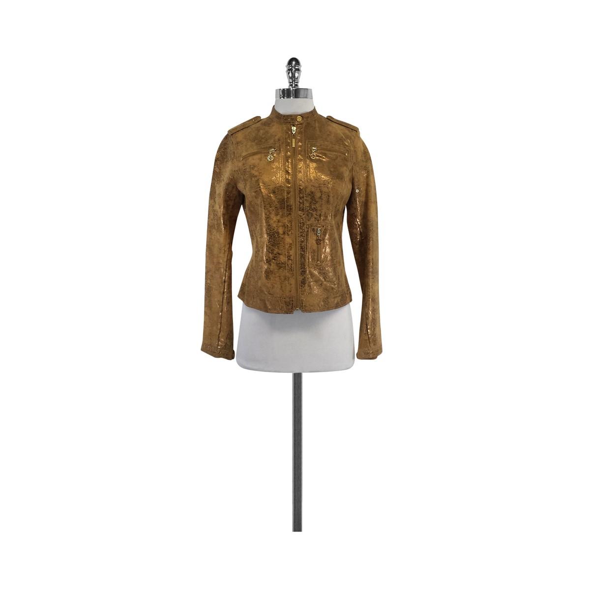 Tan & Gold Suede Jacket