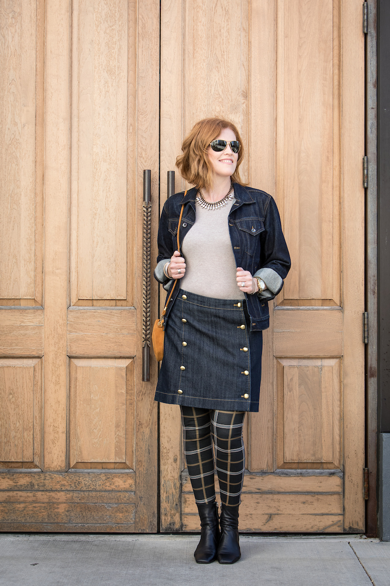 French Chic Denim on Denim Fall Outfit