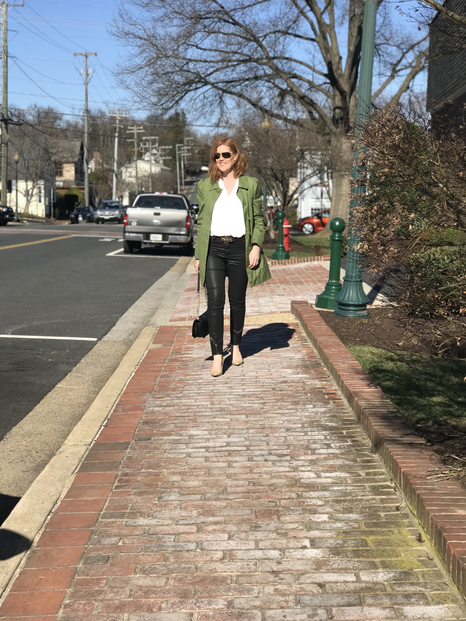 French Chic Spring Essentials: Trench Coat & Leather Pants
