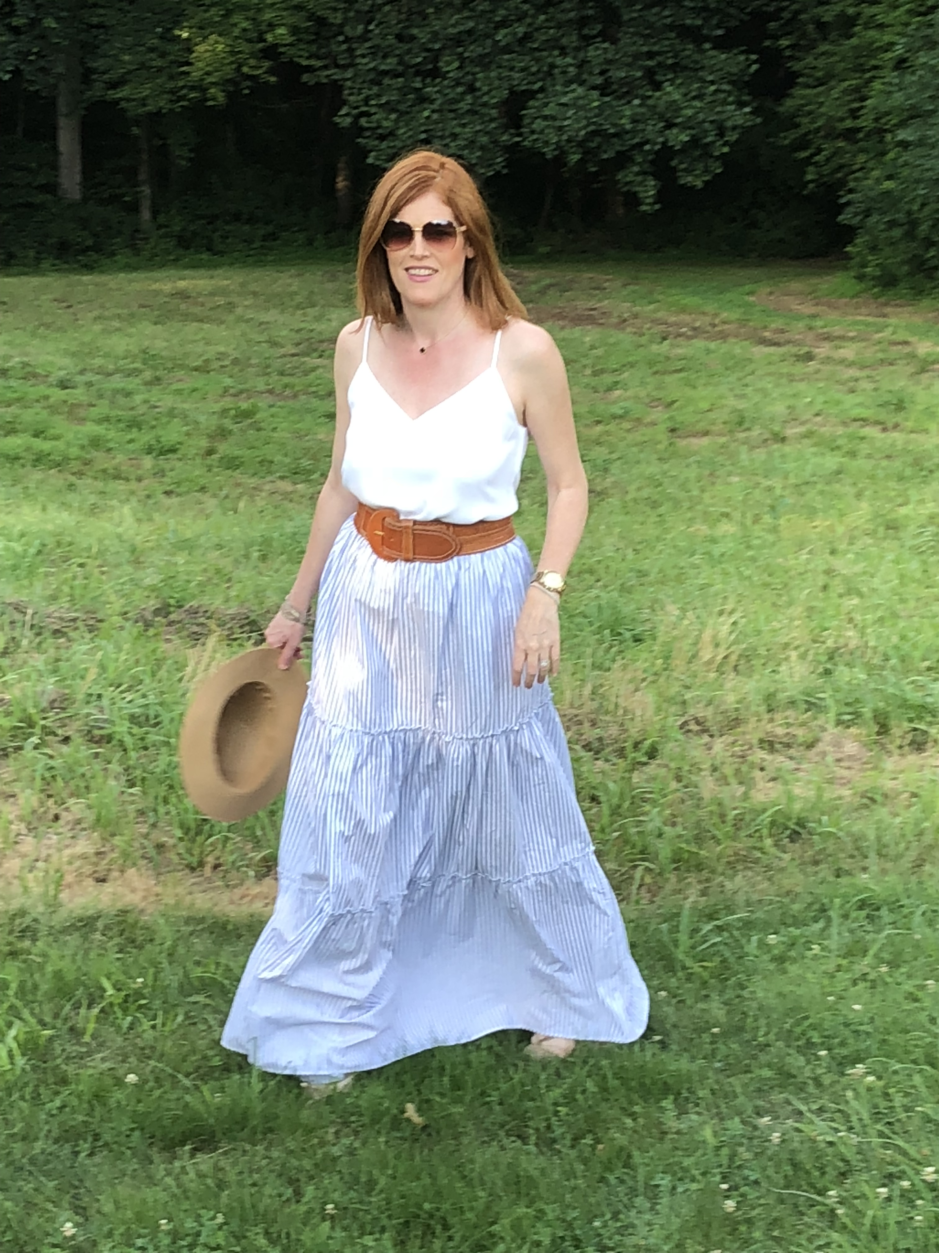 French Chic Summer Essential: The Pinstriped Maxi Dress