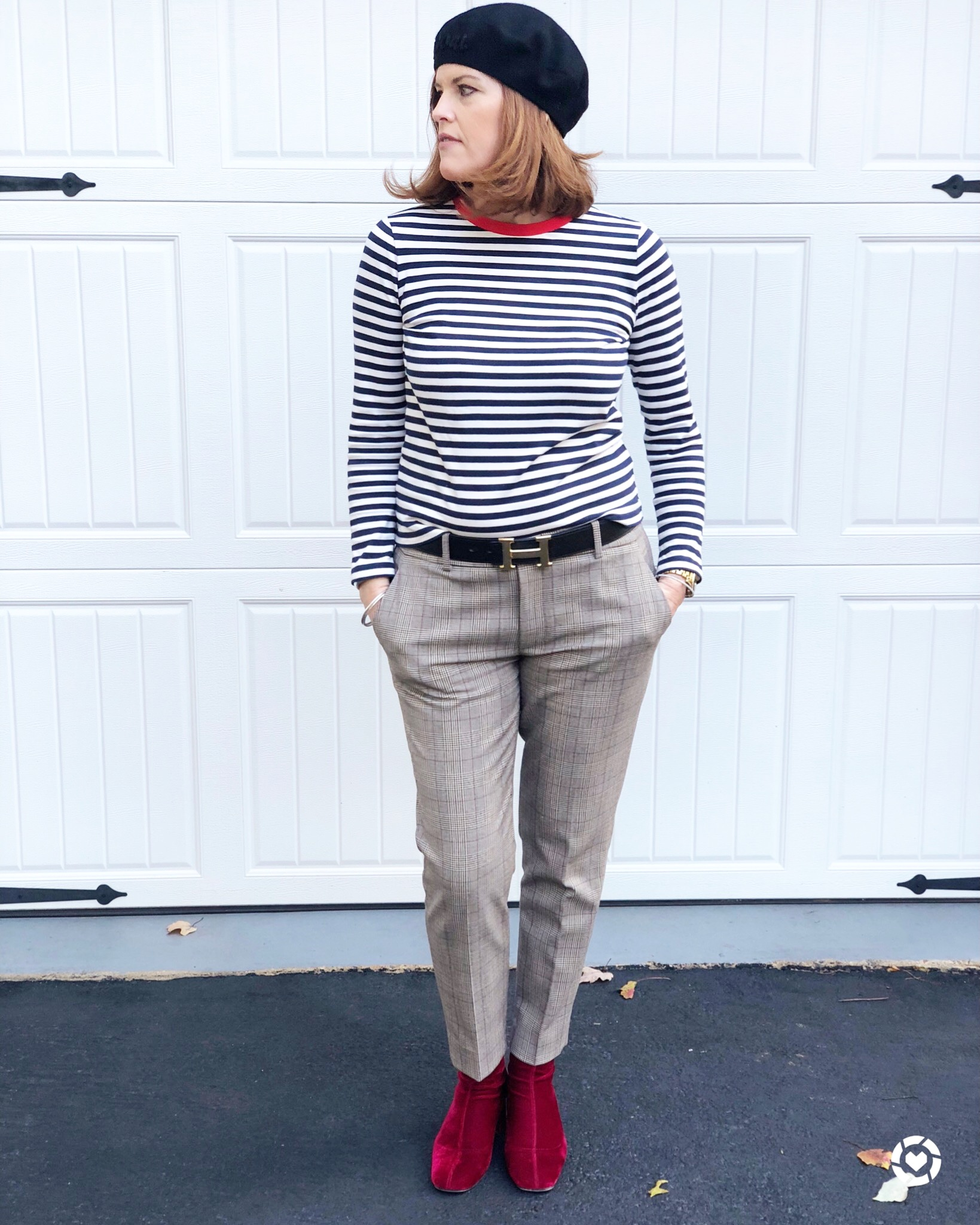 How to Style Plaid Pants the French Chic Way