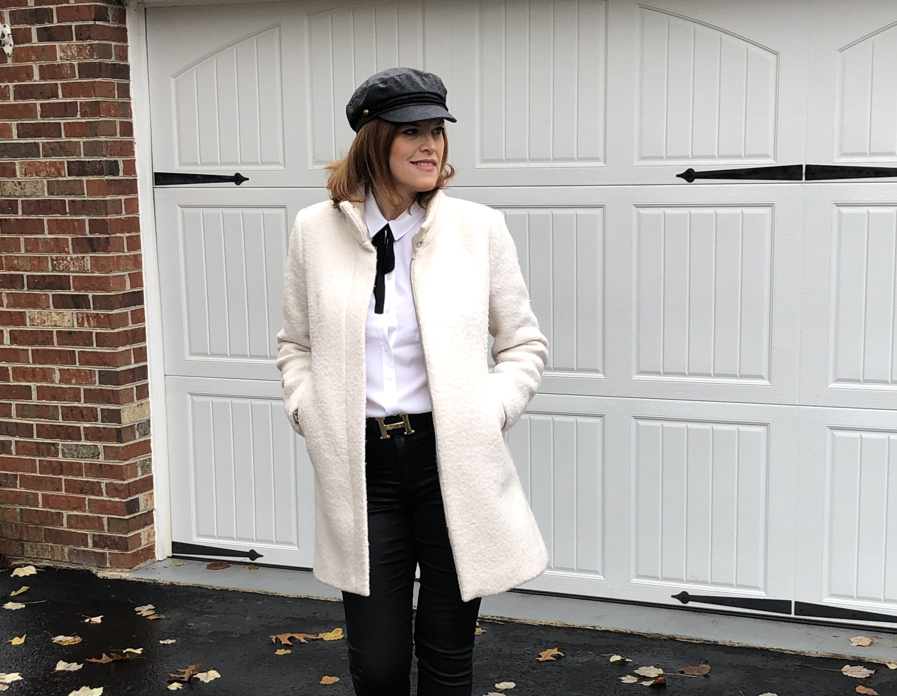 Black & White Winter Chic Outfit