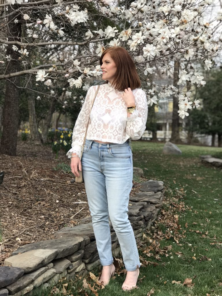 French Chic Spring Essential: The White Lace Blouse