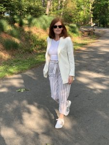 French Chic Summer Essential: Striped Paperbag Pants