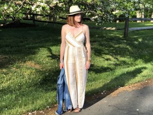 Boho Chic Mustard Jumpsuit and a Linkup