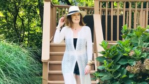 French Chic Beach Essential: Long White Lace Cover-Up