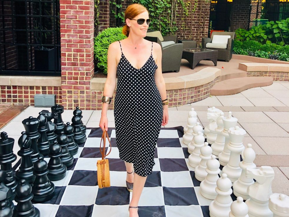 Bastille Day & Polka Dot Slip Dress