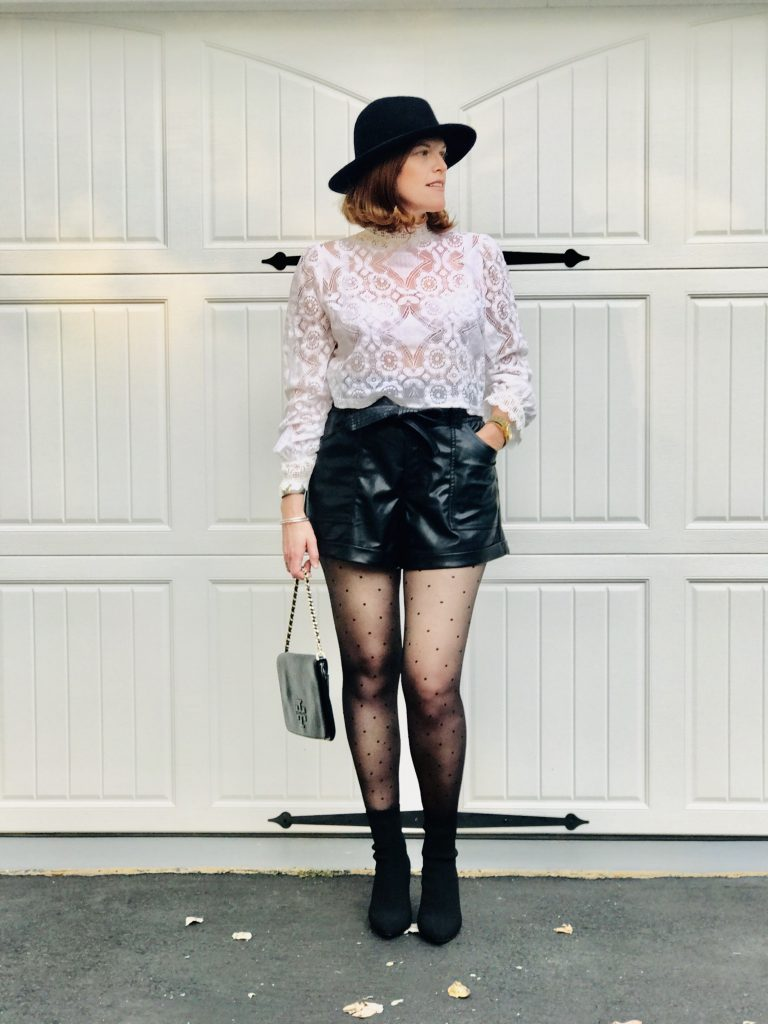 French Chic Fall Essential: Faux Leather Shorts