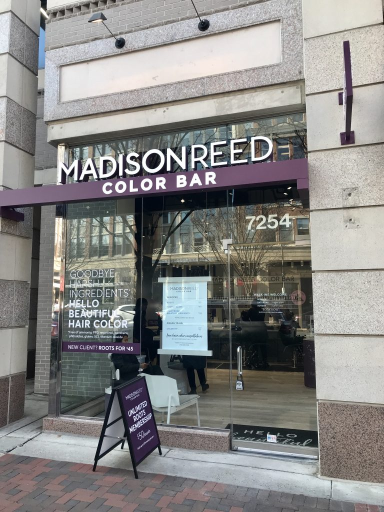 Collaboration with Madison Reed Color Bar