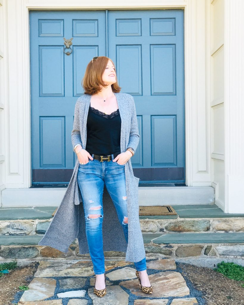 How to Style a Long Cardigan the French Chic Way
