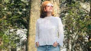 Romantic White Lace Top & Happy Easter!