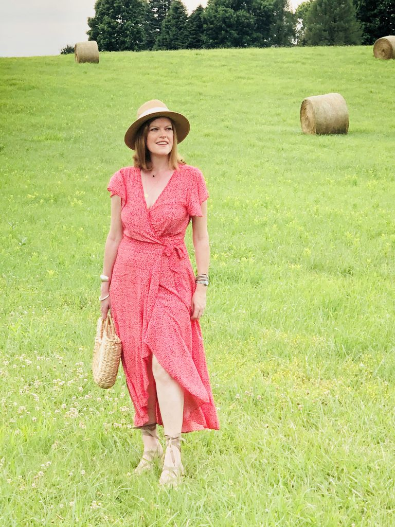 French-Girl Style Wardrobe Essential: The Floral Wrap Dress