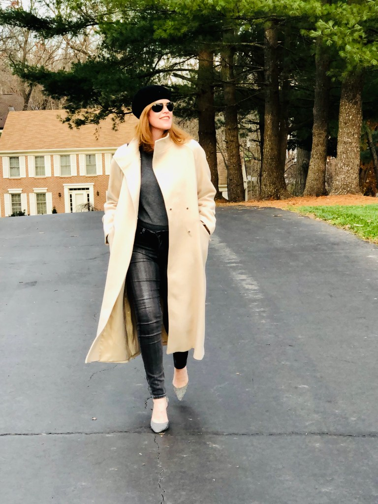 French Chic Winter White Belted Coat