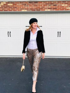 Ringing the New Year in Chic Sequin Pants